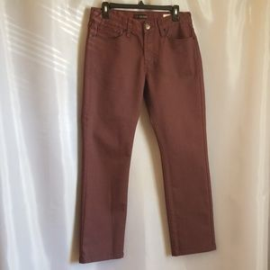 Men's Guess Slim Straight Burgundy Coated Jeans 31